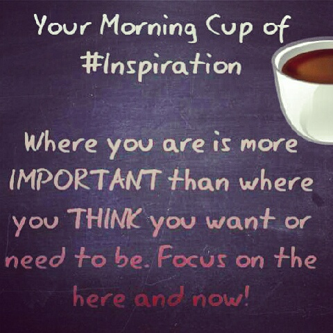 morning cup of inspiration